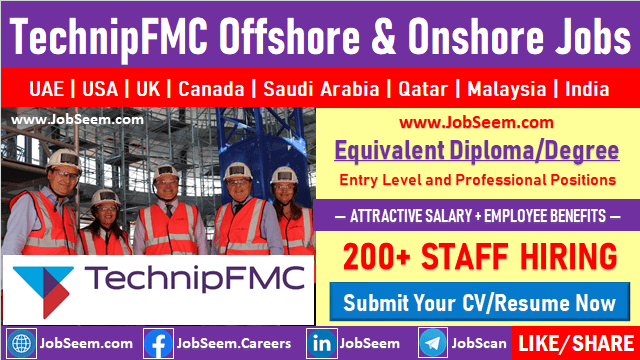 TechnipFMC Onshore and Offshore Job Vacancy and Staff Recruitment