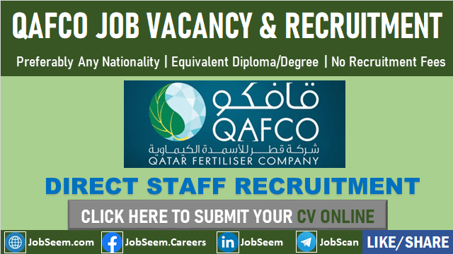 Exciting QAFCO Careers Qatar Fertilizer Company Job Vacancies Opening