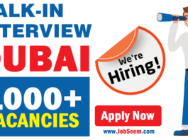 Walk in Interview Today and Tomorrow in Dubai UAE